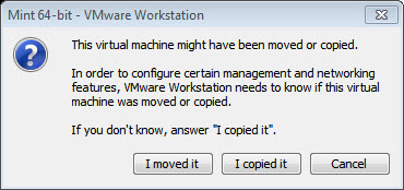 How to Fix: VMWare 'Taking ownership of this virtual machine failed