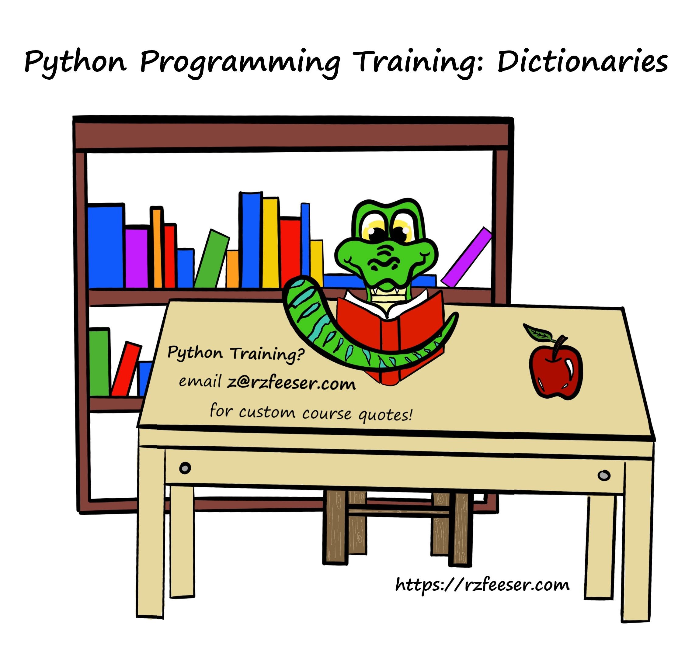 Python Programming Training Dictionaries with RZFeeser